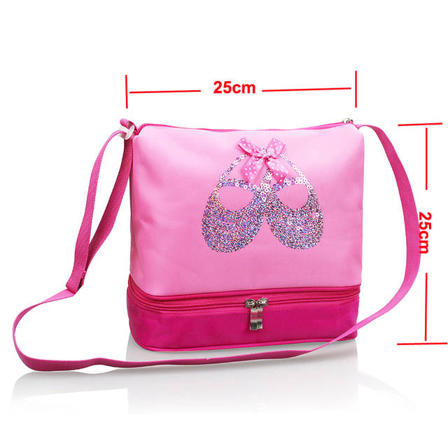 placeholder Free Shipping Pink Dance Crossbody Bags Beautiful Embroidered Sequin  Ballet Shoes Cute Girls Children Ballet Dance 33fe96db1ae2
