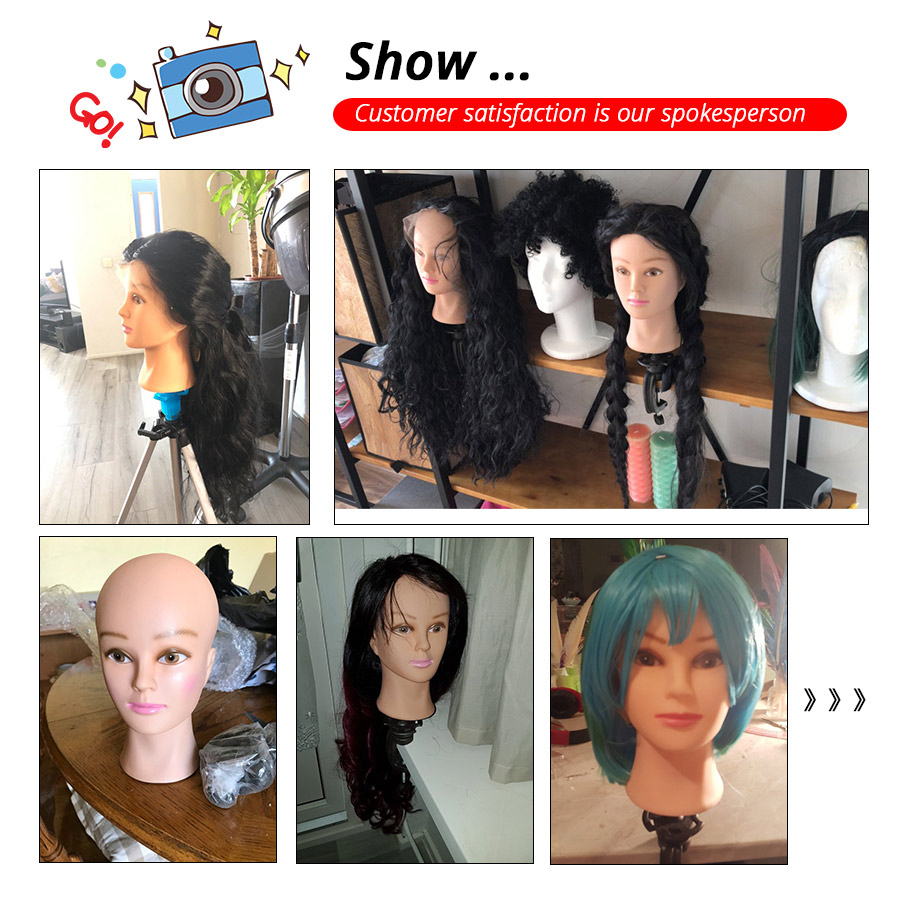 "Image 5 - Plussign Female Mannequin Head Bald With Table Clamp Professional Manikin Head For Wig Making Hat Display Makeup Practice 19 21""mannequin head clampmannequin clampmannequin wig -"