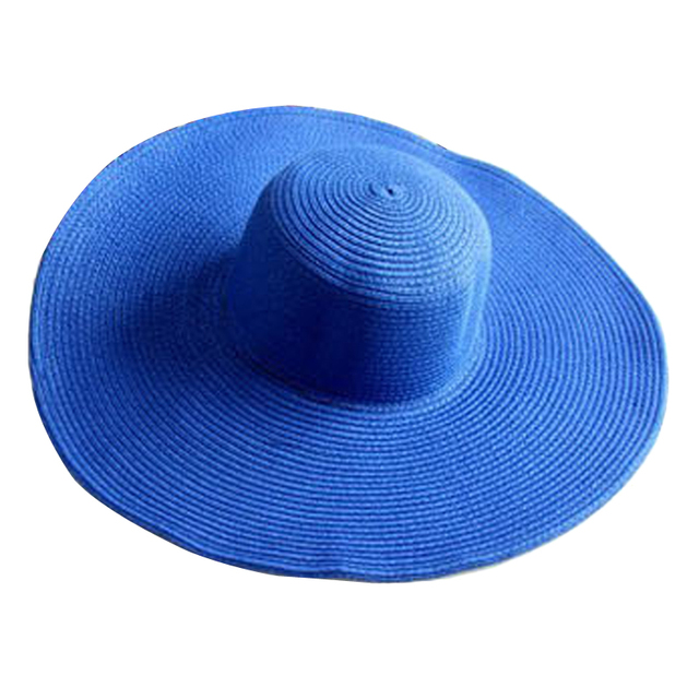 iEASYSEXY New Summer Korea Style Beach Solid Anti-UV Large Brimmed Straw Hat Sunscreen Cap Rattan Plaited Women Hats 8 Colors