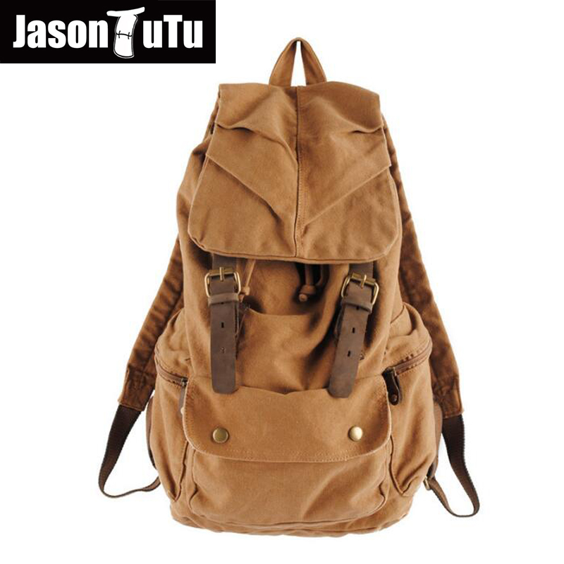 где купить New Vintage Backpack Fashion Canvas Backpack Leisure Travel School Bags Unisex Laptop Backpacks Men Backpack Mochilas FB1124 дешево