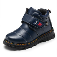 Winter Genuine Leather Boys Cotton Shoes In The Big Children Snow Boots Kids Martin Boots Plush