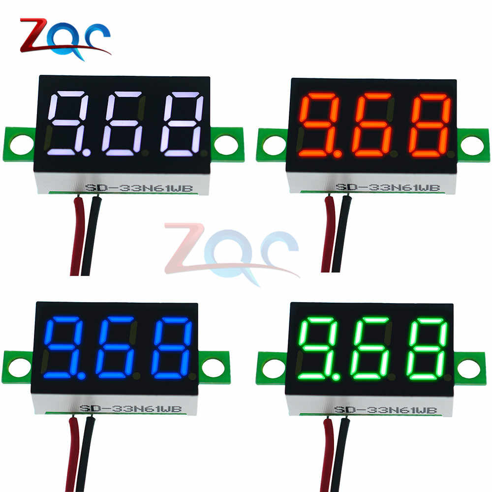 0.36 inch DC 4.7-32 V 2 Draden Mini Digit Display Voltmeter Mini LED Digital Panel Volt Voltage Meter instrument Auto 12 V 24 V