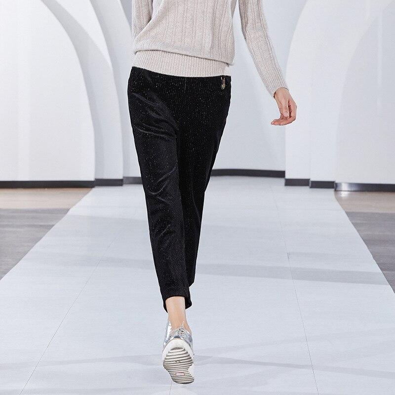 Dames Taille Fil Sac Chaud Pantalon Argent Kelly Cheville Décontracté Mode Nouvelle Elastique Moulant longueur Femmes Côtelé Velours En zv1XWAcHqq