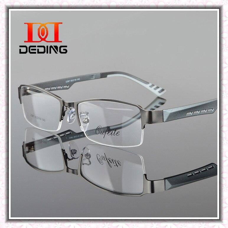 Metal Semi rimless Frame Eye Glasses Men Business Eyewear Clear Lens ...