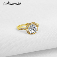 10K Gold Yellow TC Collection Rings Sona Nscd Simulated Diamond Ring Jewelry Ring New Wedding Engagement