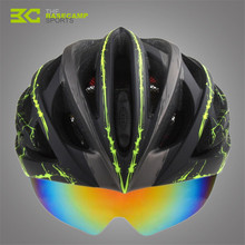 Basecamp Ultralight Cycling Helmet Casco Ciclismo Integrally-molded Bicycle Helmet MTB Bike Helmet With 3 Lens BC-018