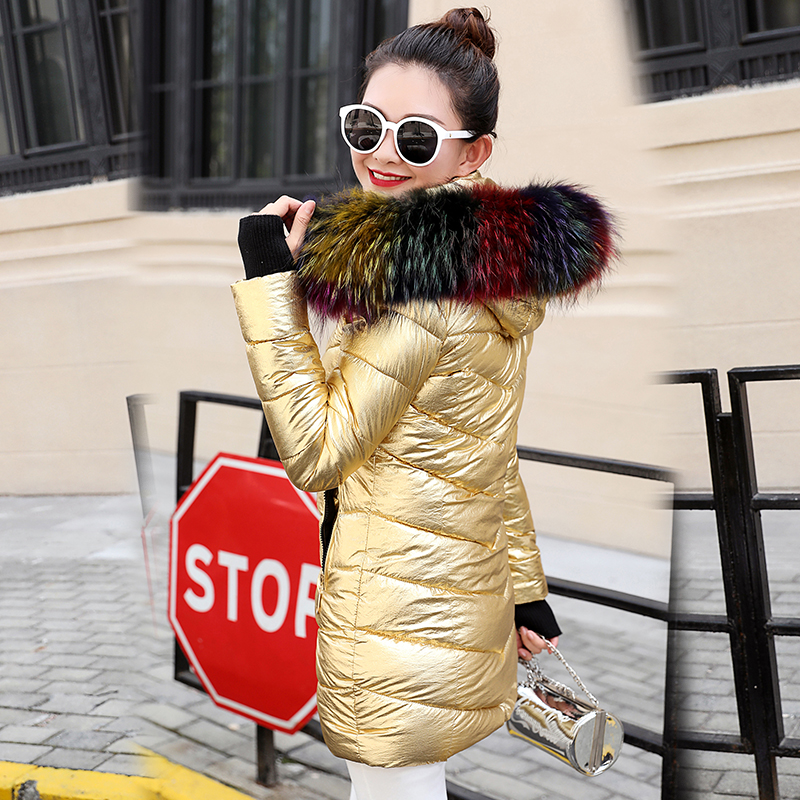 De Raton Or D'hiver Fourrure Court Vestes Automne Femmes Mode Femme argent Faux Laveur 2019 Le vêtements Coton Rembourrés Vers Col Parkas Bas D'extérieur f1qXw8