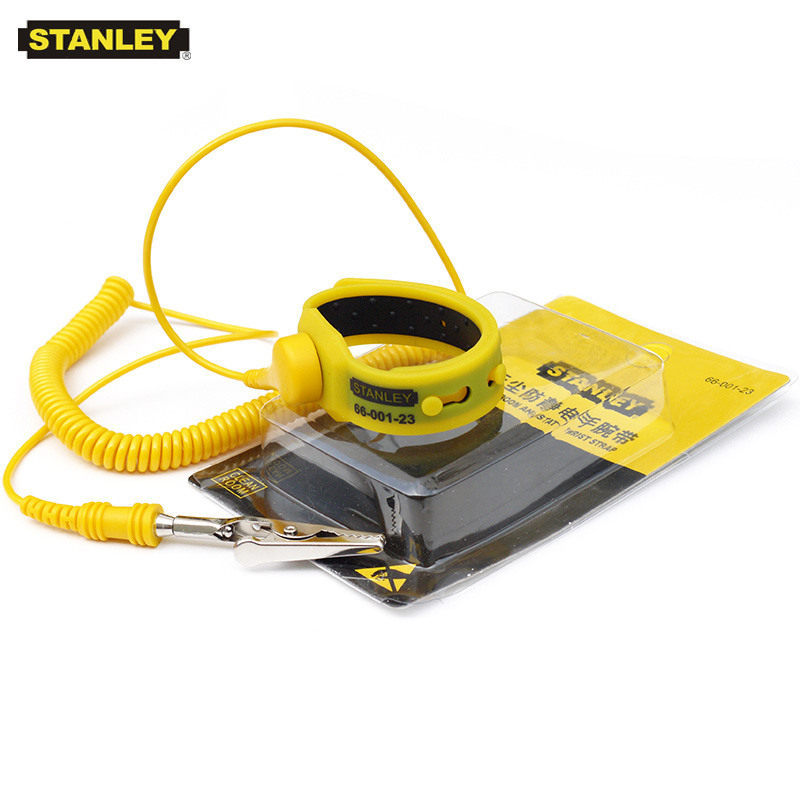 Stanley Adjustable Clean Room Antistastic Wrist Strap ESD Wrist Band Anti-static Belt Anti Static For Mobile Repairing Dust Free
