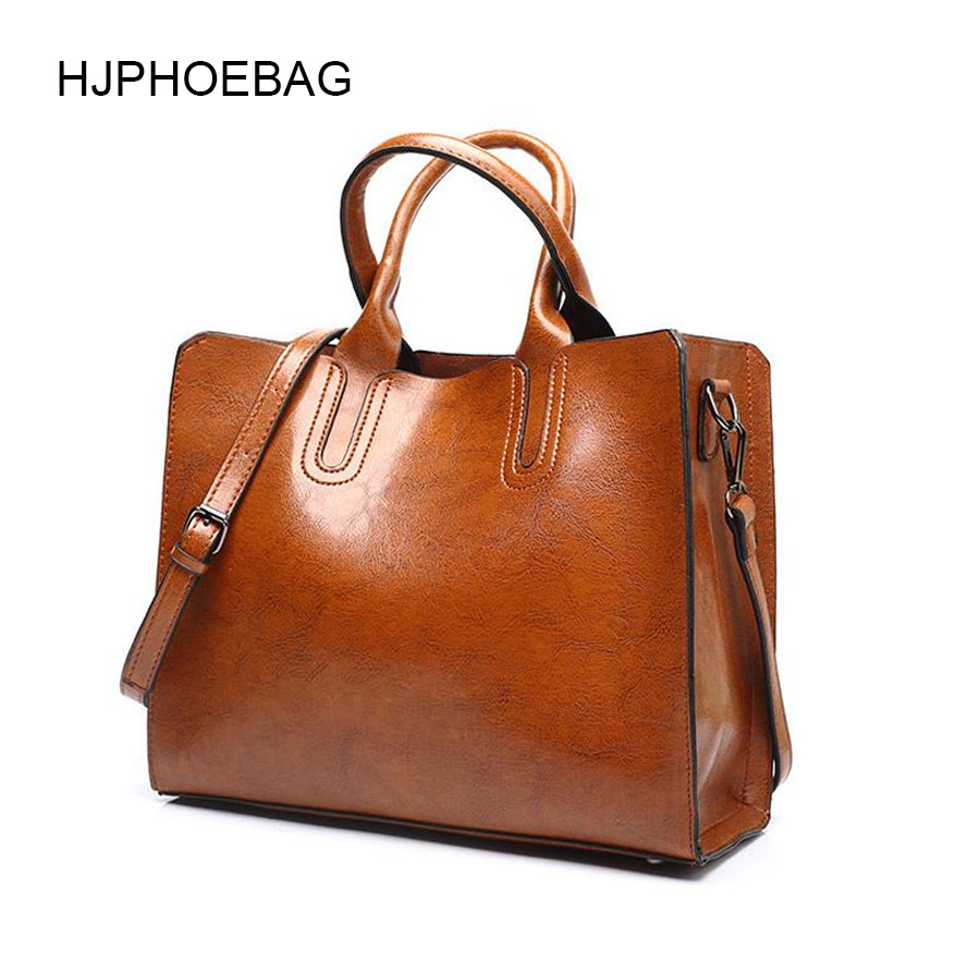 HJPHOEBAG Leather Luxury Handbags Women Bags Lady Large Tote Bag Female Pu Shoulder Bag Women Messenger Bag Bolsa Feminina YC001
