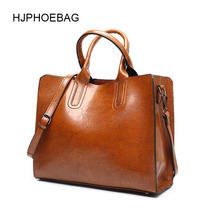 купить HJPHOEBAG leather luxury handbags women bags Lady Large Tote Bag Female Pu Shoulder Bag Women messenger bag bolsa feminina YC001 по цене 830.42 рублей