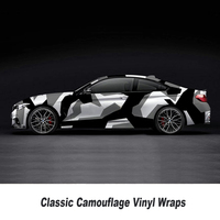 Black Gray Camouflage Vinyl Car wrap film Camo Car Sticker Motorcycle Bike Wraps Bubble Free 5m/10m/15m/20m/25m/30m