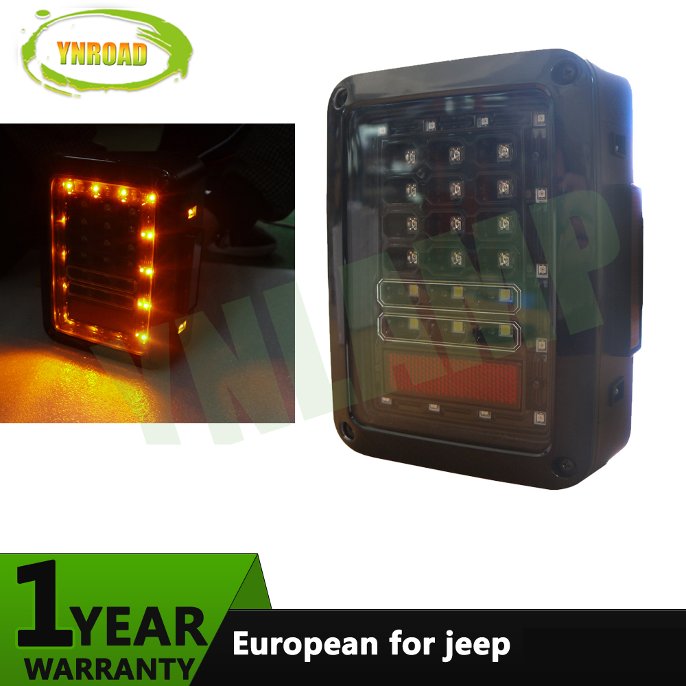 YNROAD 1 пара хвост света Обратный сигнал поворота работает тормоз задняя фара Сид 36leds 12V Европейский стандартный разъем для Jeep Вранглер JK