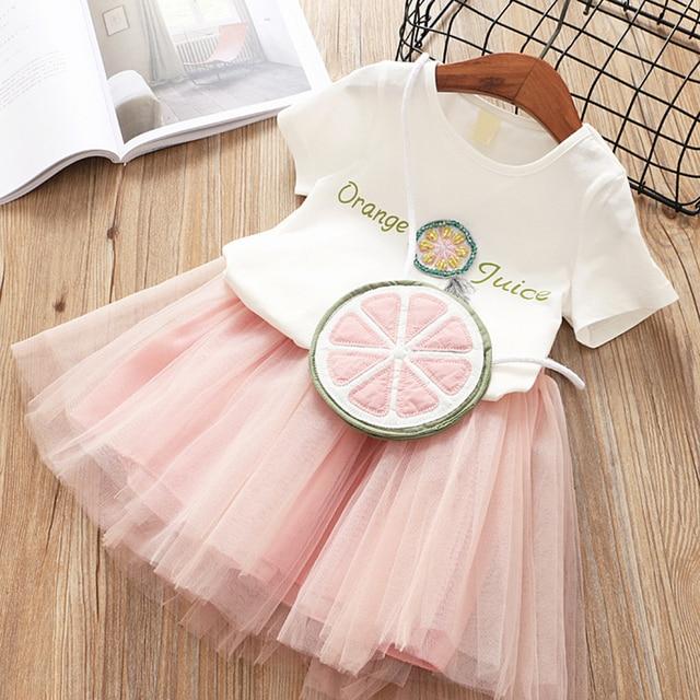 Keelorn בנות שמלת קיץ ילדי שמלות בגדי ילדי אופנה ילדה מעצב תינוקת בגדי בנות שמלות בילד