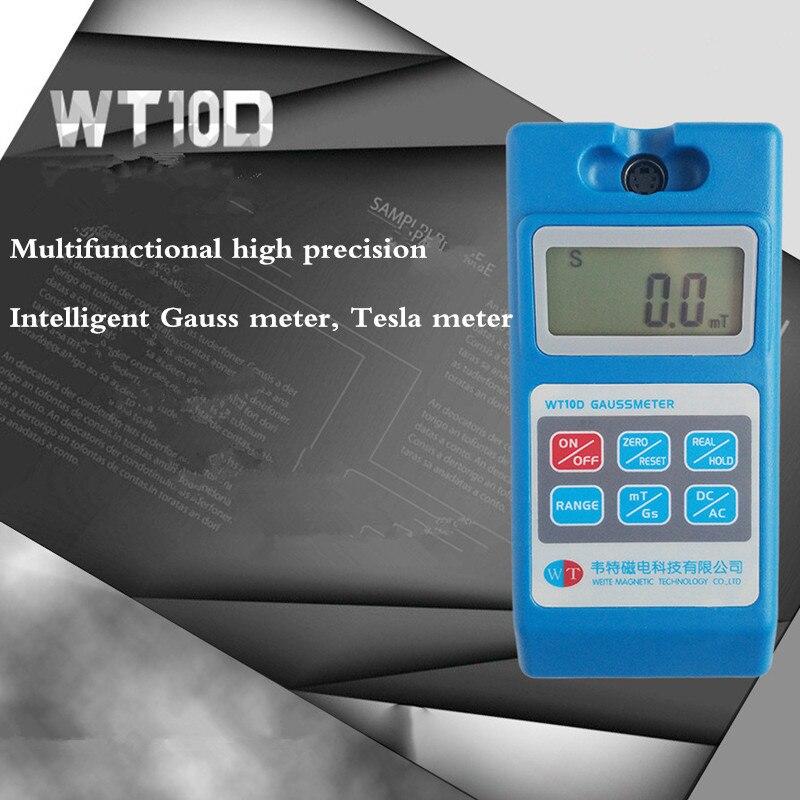 WT10D Умный Цифровой гауссовый метр Fluxmeter Тесламетр магнитометр остаточный магнитный инструмент тестирования
