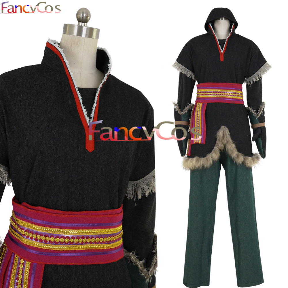 Halloween Mens's Kristoff Prince Costume Cosplay Anime movie Costume Custom Made High Quality