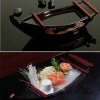 Kitchen DIY 1pc Japanese Style Dragon Boat Holder Sushi Boat Sashimi Boat Dry Ice Cooking Boat Specials Salmon Dish Sashimi Dish