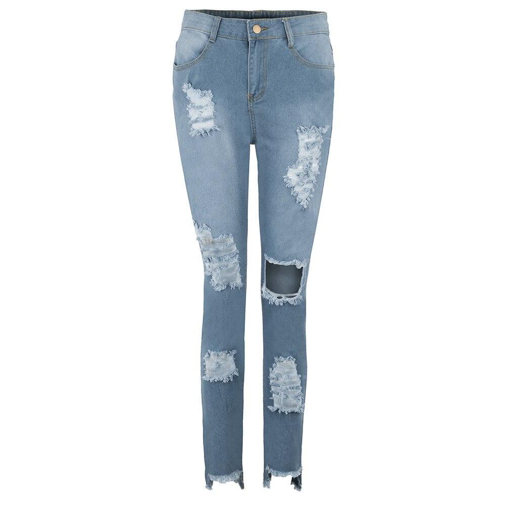 d8c6ac86a2 Luckinyoyo jean mujer mamá pantalones vaqueros novio jeans para mujeres  cintura alta con push up de