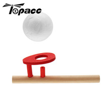 Wooden Floating Wood Stick Ball Educational Interactive Intelligence Party Game Blow Ball Children Exercise Lung Capacity Toy schylling blow toys hobbies outdoor fun sports toy ball foam floating ball game children wooden education kids baby gift