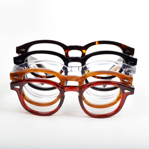 Image 3 - 안경 남성 조니 Depp 안경 투명 렌즈 브랜드 디자인 컴퓨터 고글 남성 라운드 빈티지 스타일 sq000