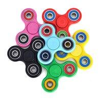 100pcs Lot Fingertip Gyro Multi Color Triangle Gyro Finger Spinner Fidget Plastic EDC Hand For Autism