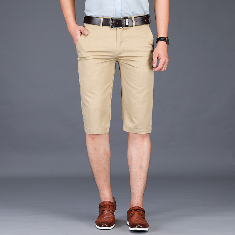 2019 New Casual Summer Shorts Men Cotton Knee Length Chinos Shorts Casual Men Shorts  Big Large Size 40 42