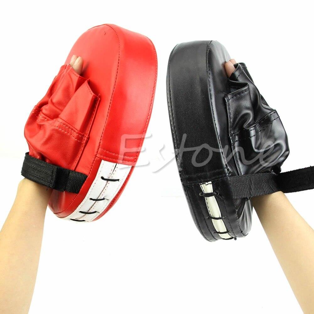 Mens leather gloves target - Boxing Mitt Training Focus Target Punch Pad Glove Mma Karate Combat Thai Kick China