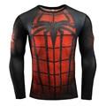 2016New Мода Фитнес Сжатия Рубашка Мужчины Косплей Мужчины Crossfit Плюс Размер Бодибилдинг 3D Отпечатано Бэтмен Супермен Футболка