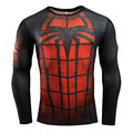2016New Fashion Fitness Compression Shirt Men Cosplay Male Crossfit Plus Size Bodybuilding 3D Printed Batman Superman Tshirt