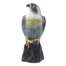 Réaliste épouvantail artificiel aigle leurre oiseaux dissuasion jardin défense faucon arbre décoration animaux peur