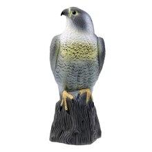Águia artificial espantalho realista, decodificação de pássaros, deterrente de defesa, jardim, árvore do hawk, decoração, animais assustos