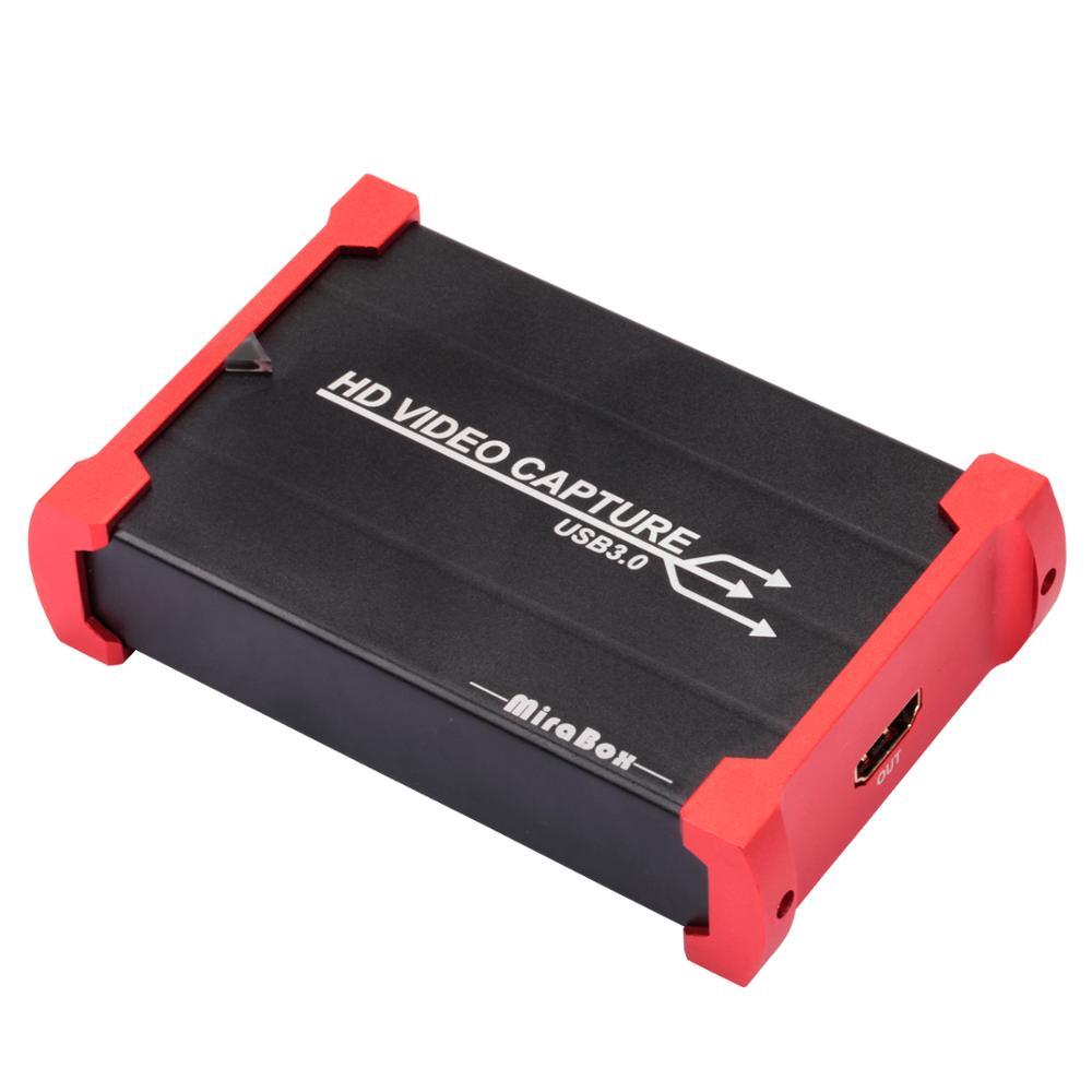 MiraBox USB 3.0 HDMI jeu Capture carte 1080 P 60FPS Portable HD enregistreur vidéo dispositif en direct Streaming pour Mac Windows Linux système