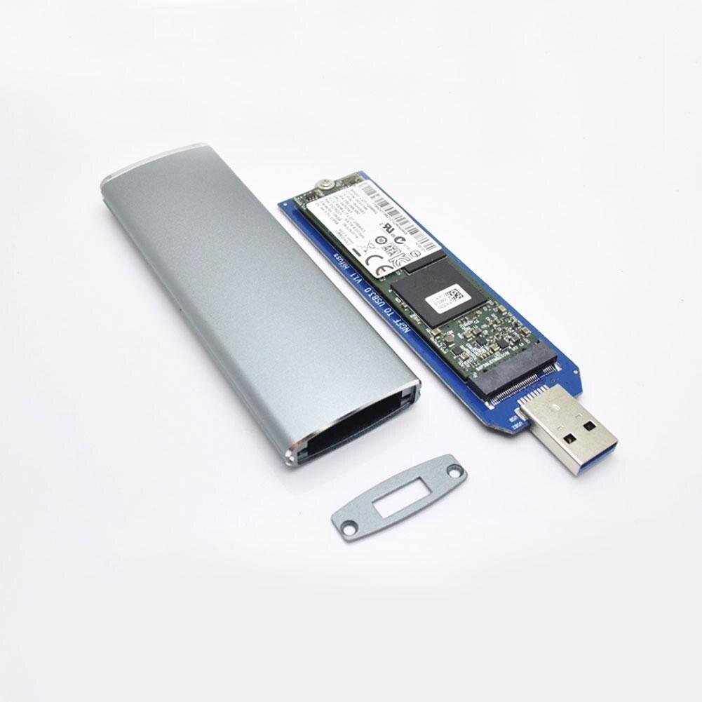 M.2 NGFF SSD To USB3.0 Portable Box Hard Disk Adapter M2 External HDD Enclosure