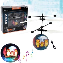 Colorful Flying Ball Helicopter RC Flying Ball Drone Helicopter Ball Built-in Shinning LED Lighting Flying Toys for Kids hot drone fairy rc fairy helicopter ball magic shinning luminous led lighting for kids infrared induction aircraft flying toys