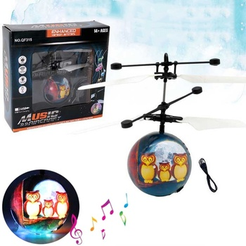 Colorful Flying Ball Helicopter RC Flying Ball Drone Helicopter Ball Built-in Shinning LED Lighting Flying Toys for Kids