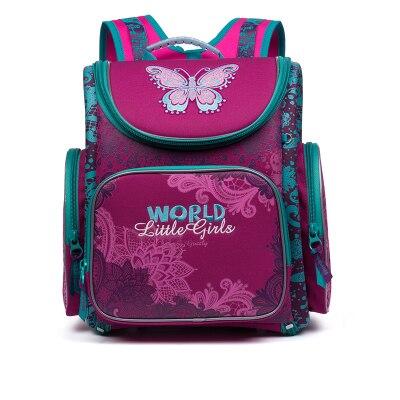 Russian Brand Delune Children s Backpacks School Bags for Girls Flower Printed Waterproof Orthopedic Foldable Backpacks