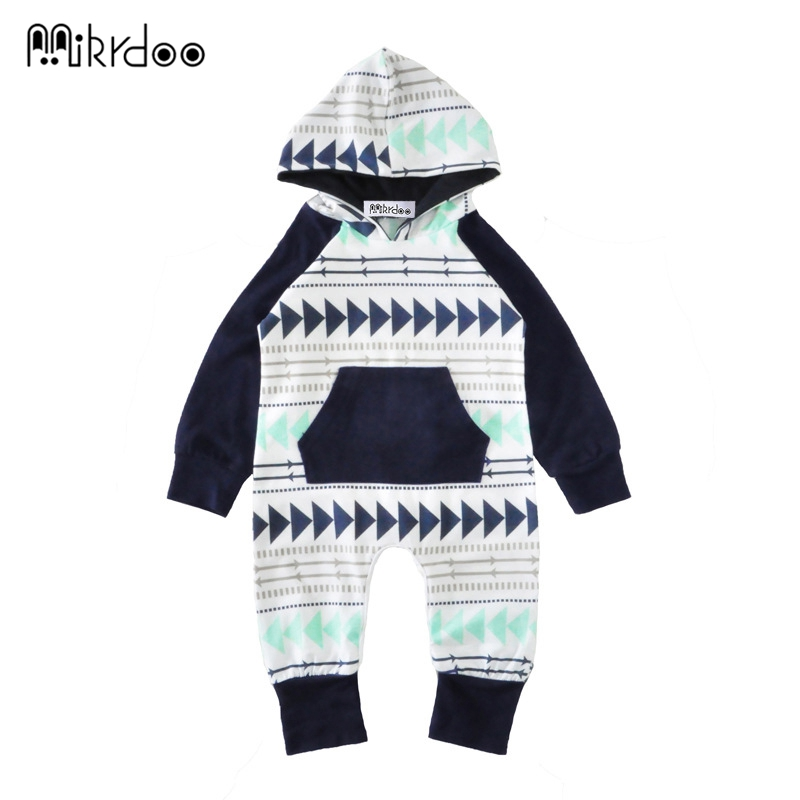 HOT SALE Autumn Knitted baby boys girls clothes set long-sleeve geometric Newborn baby Romper jumpsuit roupas de bebe