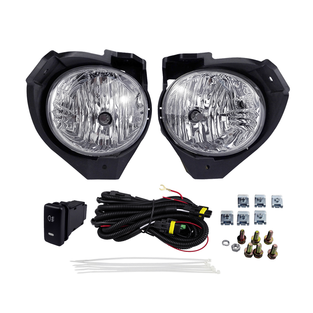 Fog Light for Toyota Hilux Vigo 2008 Lamp Assembly Halogen Yellow 55W 4300K Abs Plastic Right Left Front Light Car Accessories 2pcs auto right left fog light lamp car styling h11 halogen light 12v 55w bulb assembly for citroen c4 coupe la 2004 2008 2010