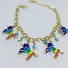 Bracelet with Rainbow Unicorn Charms