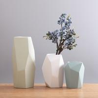 Modern small fresh flower vase home decor ceramics crafts room wedding decoration handicraft figurine garden vase ornaments
