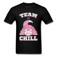 Funny T Shirts For Men Summer Tops Team Chill Tshirt Text Cute Graphic Comic Breathable Cotton T-Shirt Plus Tail Size  XXXL