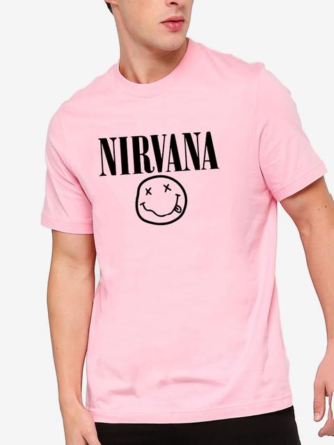 Nirvana camisetas de hombres/mujeres de algodón de verano Camisetas imprimir T camisa de los hombres suelto o-Cuello de manga corta de moda camisetas Plus tamaño XS-2XL