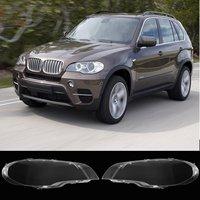 1 пара левый + правый передние фары объектив лампа основа фары крышка абажур ярко Автомобиль Стайлинг для BMW 2008 2013X5 E70