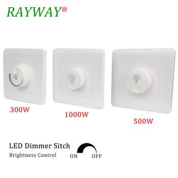 LED triak ściemniacz 110V-220V 300W 500W 1000W regulator jasności ściemniacze do regulowana dioda światła panelu żarówki lampy tanie i dobre opinie ROHS dimmer 300W 500W 1000W QD230 Ściemniacze 2Year 300W 500W 1000W AC110V-220V LED Triac Dimmer Switch Brightness Controller