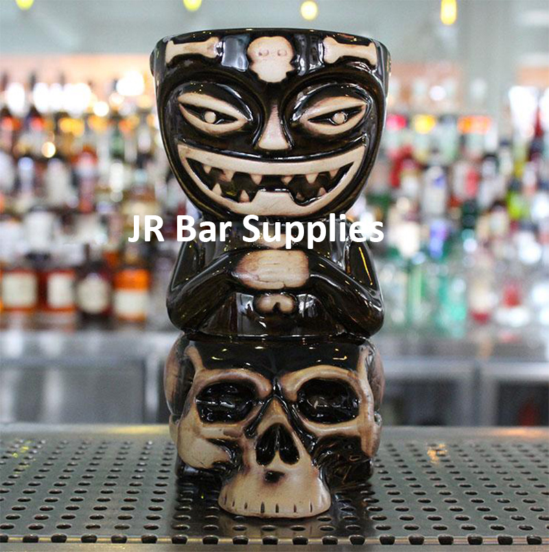 Skull Doll Tiki Mug Cocktail Cup Beer Wine Mug Ceramic Tiki Mugs Art Crafts Creative Hawaii