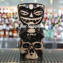 Skull Doll Tiki Mug Cocktail Cup Beer Wine Mug Ceramic Tiki Mugs Art Crafts Creative Hawaii Mugs