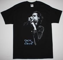 NICK CAVE MICROPHONE BAD SEEDS BIRTHDAY PARTY GRINDERMAN S-XXL NEW BLACK T-SHIRT Print T Shirt Summer Short Light