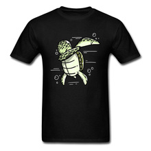 Dabbing Sea Turtle Prevailing Man Top T-shirts Techno Hip Hop Rock Electronic Dance Tshirt Top Quality 100% Cotton Free Shipping