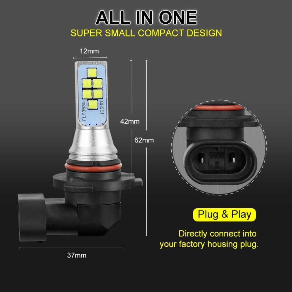 2PCS H11 LED Bulbs 9005 HB3 9006 HB4 H8 LED Bulb H16 5202 PSX24W Auto Headlight Fog Lights Car Light 12V 24V 1400LM 6000K White