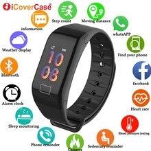 Do Samsung Galaxy A10 A20 A20e A30 A40 A50 A60 A70 A80 M10 M20 M30 inteligentny bransoletka do zegarka wodoodporna tętno sportowe opaski na rękę