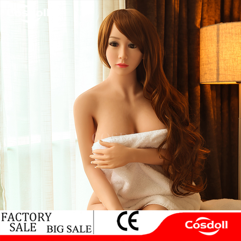 Cosdoll 158cm Real Sex Dolls With Metal Skeleton ,3D Vagina Oral Anal Sex, Sexy Mouth Love Doll Sex Doll For Men Sex Products 2017 new 100% full silicone with metal skeleton half body 86cm sex doll love doll oral vagina anal breast sex doll for men